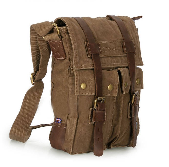 721f7c5ecabc IPAD travel messenger bag khaki  khaki vintage shoulder bag ...