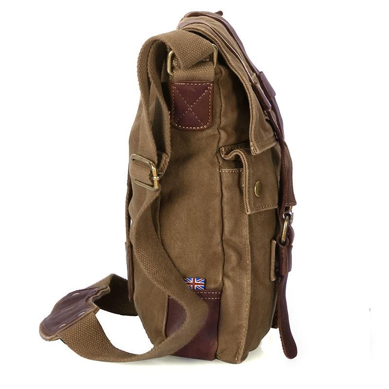 ... khaki vintage shoulder bag  IPAD travel messenger bag mens  womens  vintage shoulder bag  canvas shoulder bag ... a128dd6a16da0