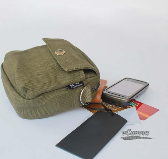 Zipper Fanny Pack, Phone Holder, mini shoulder messenger bag, Mens ...