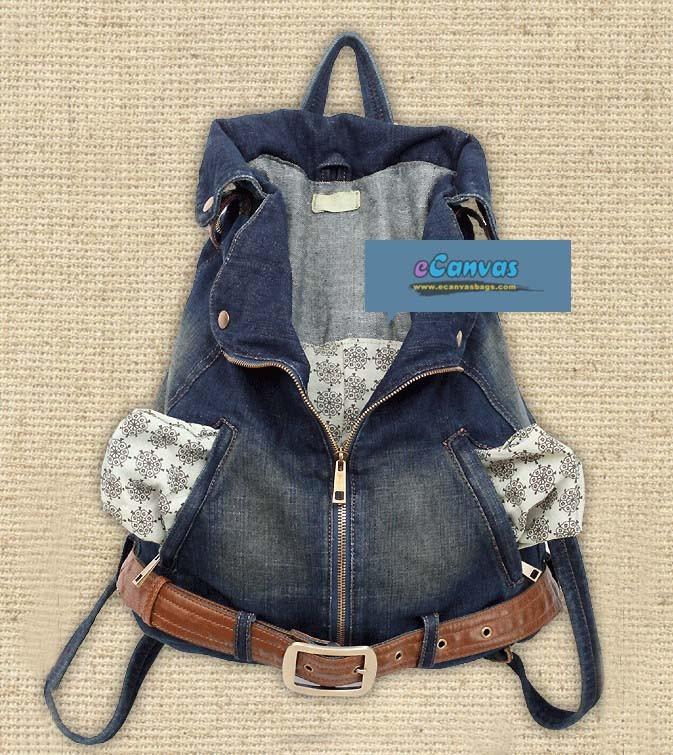 Джинсовый рюкзак своими руками