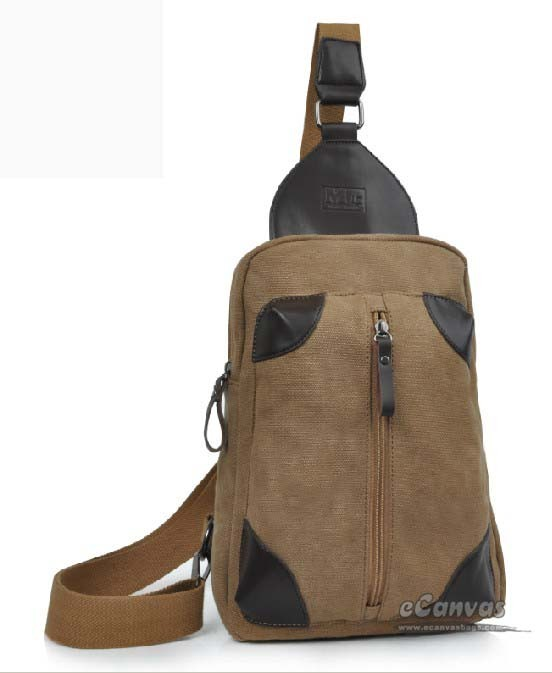 Backpacks one strap, khaki canvas cool backpack - E-CanvasBags