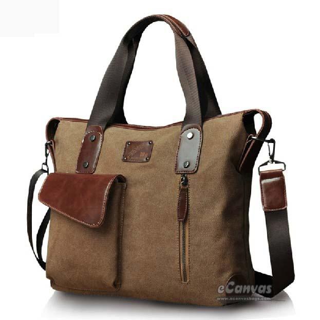Best laptop messenger bag, coffee computer briefcase - E-CanvasBags