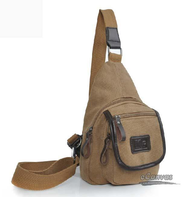 Backpack single strap khaki, lightweight travel sling bag - E ...