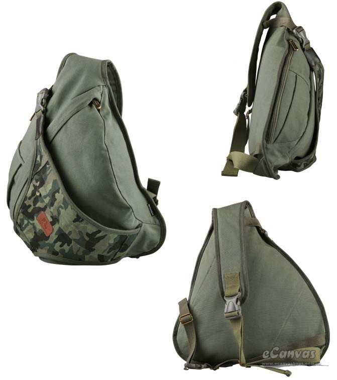 4aa7e9d71b79 ... army green one strap backpack for men ...