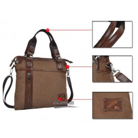Large Messenger Bags For Men Black Coffee Security