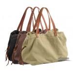 Trendy handbag, canvas tote bag for women
