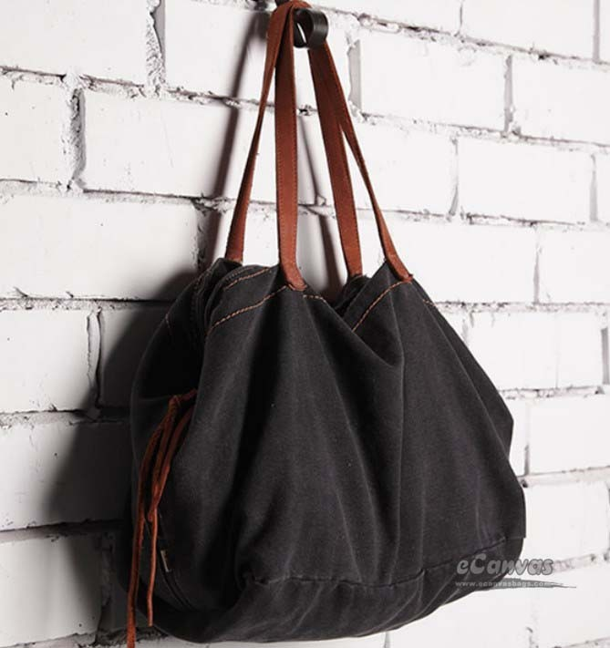 Trendy handbag, canvas tote bag for women - E-CanvasBags