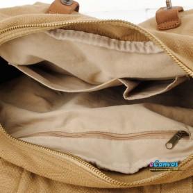 Khaki canvas laptop bag