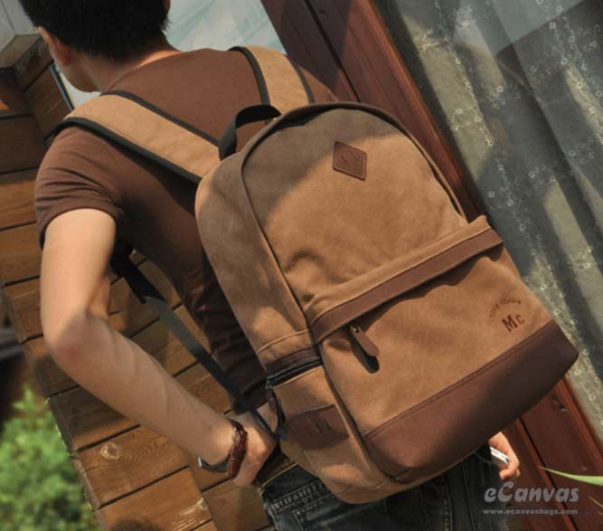 Laptop Bag Mens Day Backpack Coffee