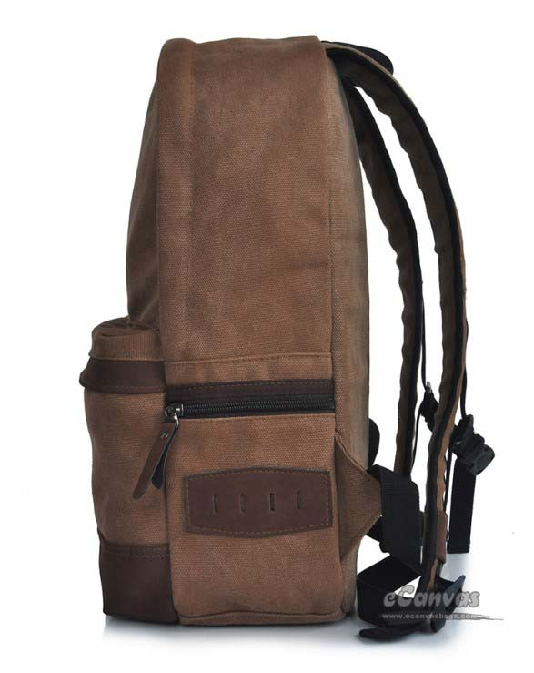 Day backpack coffee, 14 inch cool laptop bag - E-CanvasBags