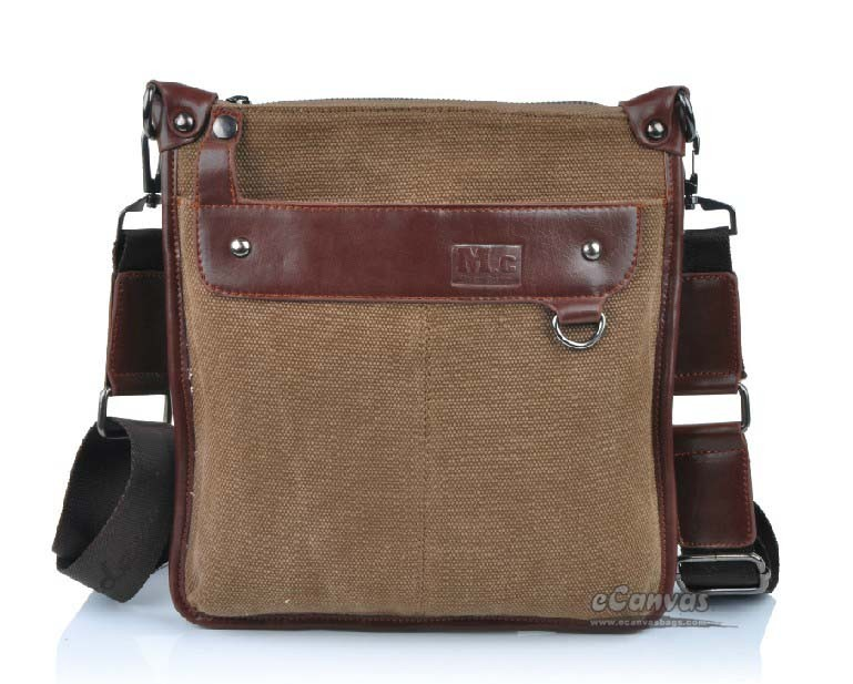 Vertical messenger bags for men, coffee small messenger bag - E ...