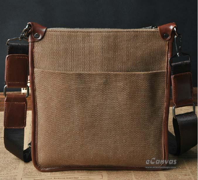 e678e0056 Vertical messenger bags for men, coffee small messenger bag - E ...