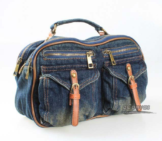 Girls Messenger Bag For School Navy Denim Messenger Bag E Canvasbags