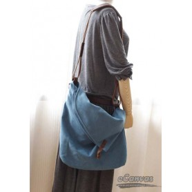 blue Funny messenger bag
