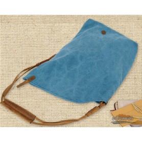 blue female messenger bag