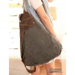 Style backpack grey, blue travel backpack for women