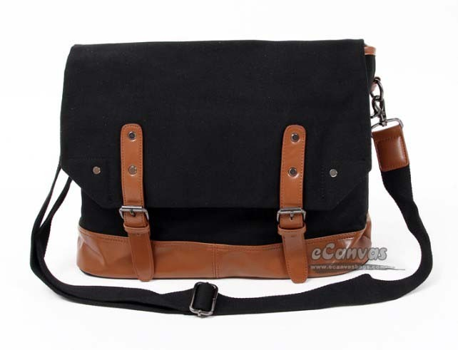 Large messenger bag for women, men messenger bag - E-CanvasBags