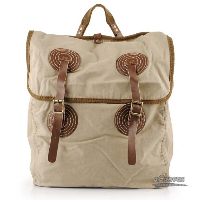 Sport Travel Canvas Bag Khaki Books Bags Heavy Duty