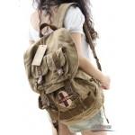 Travel rucksack, khaki unique backpack