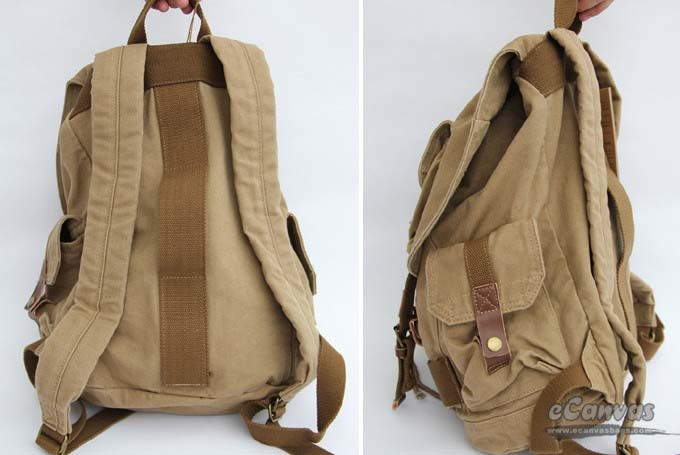 Travel Rucksack Khaki Unique Backpack E Canvasbags