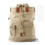 Organic Canvas Backpack Duffel Bag, bucket retro bags, khaki & black