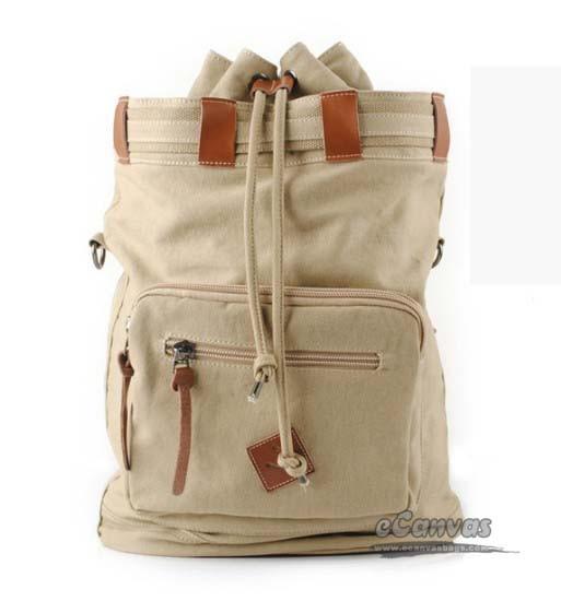 Organic Canvas Backpack Duffel Bag Bucket Retro Bags
