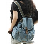 Traveling backpack blue