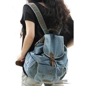 Traveling backpack blue, navy walking backpack