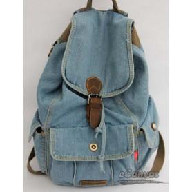 denim walking backpack