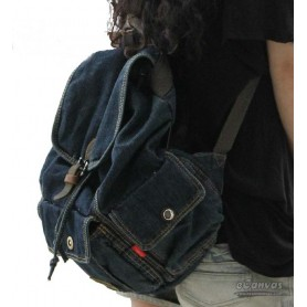 Traveling backpack navy