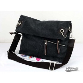 Stylish messenger bag for women black