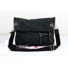 black sports messenger bag
