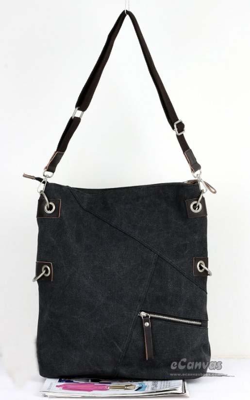 61a3945ecb ... black sports messenger bag  canvas Stylish messenger bag for women ...