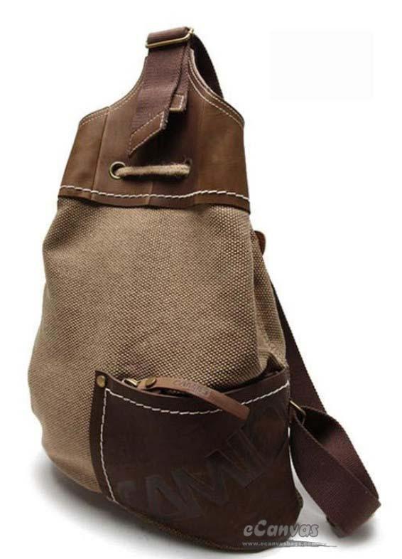 Vintage Rucksack Coffee Extra Large Backpack Khaki Fancy