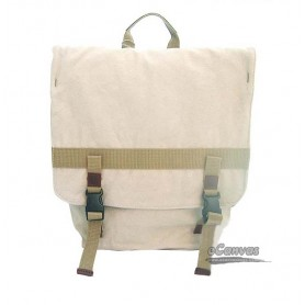 beige  Organic Canvas Backpack