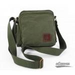 Vintage messenger bag army green, black urban messenger bag