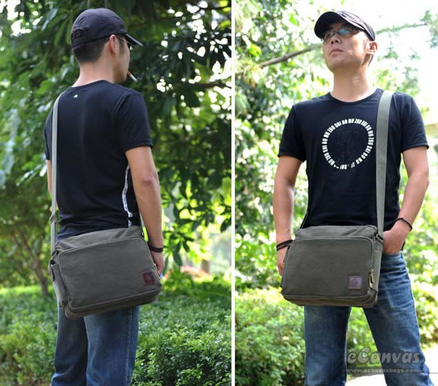 IPAD unique messenger bag black, army green trendy messenger bag ...