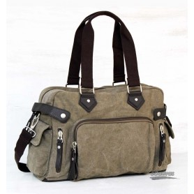 Canvas utility bag, high-capacity women, coffee & grey