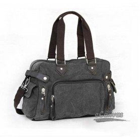 grey Canvas utility bag