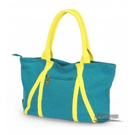 blue large canvas tote bag