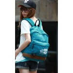 Canvas college backpack, cute backpack, 5 colors