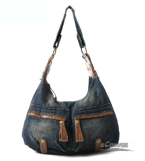 Blue jeans purse, blue school bag