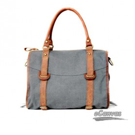 grey Canvas handbag