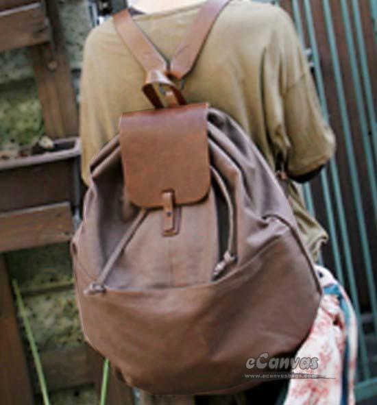 c4acb86a29 Best school backpack black, coffee book bag - E-CanvasBags