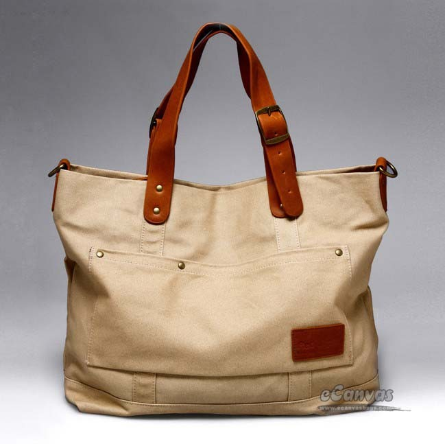 Womens tote bag, shoulder school bag - E-CanvasBags