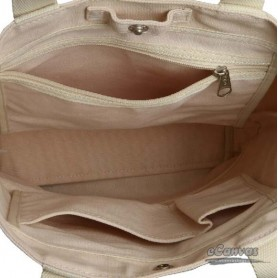 beige grocery bag canvas