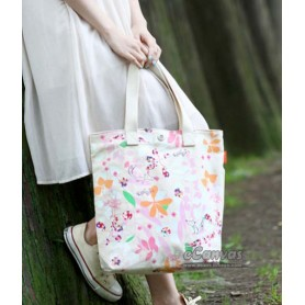 pink grocery bag canvas