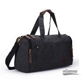 Mens weekend travel bag black