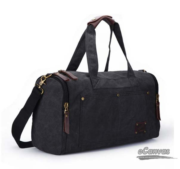 Mens weekend travel bag coffee, black personalized travel bag - E ...
