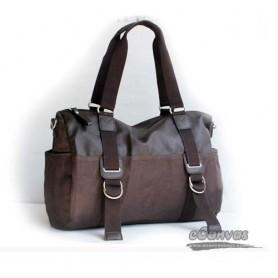 coffee Canvas Messenger Shoulder Bag